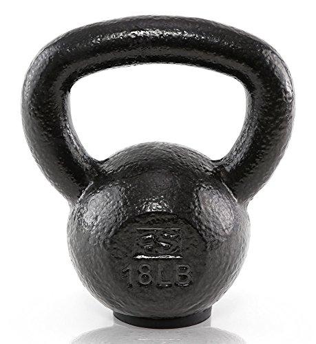 Fitness Solutions LLC Black Hammertone Kettlebells (18 LB)