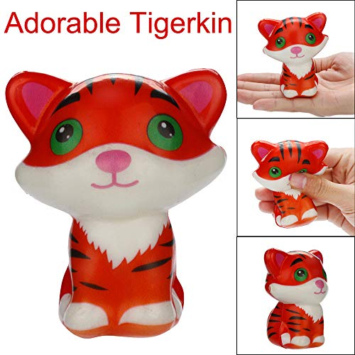 Sagton Squishies Kawaii Tigerkin Anxiety Relief Toys, Stress Relief Squishies Slow Rising Scented Cream Squeeze Toy for Adult Kids