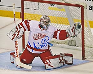 """Petr Mrazek Detroit Red Wings NHL 8x10"""" White Jersey Autographed Photo"""