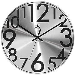 Infinity Instruments Silver Twinkle-12 Metal Wall Clock