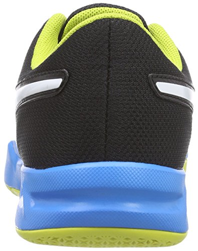 Puma evoIMPACT 5 Jr - Zapatillas deportivas para interior de material sintético Niños^Niñas negro - Schwarz (black-white-sulphur spring-cloisonné 03)