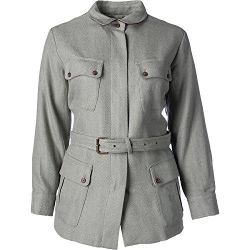 Lauren Ralph Lauren Womens Plus Herringbone Linen Blend Jacket Green 18W