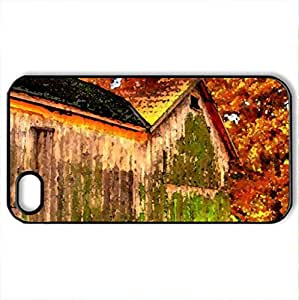 lintao diy beautiful barn hdr - Case Cover for iPhone 4 and 4s (Farms Series, Watercolor style, Black)