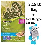 Purina Cat Chow Naturals Plus Vitamins & Minerals - Indoor with Real Chicken & Turkey (4 Bags - 3.15 Lb + Free Toy)