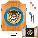 NBA Oklahoma City Thunder Wood Dart Cabinet Set