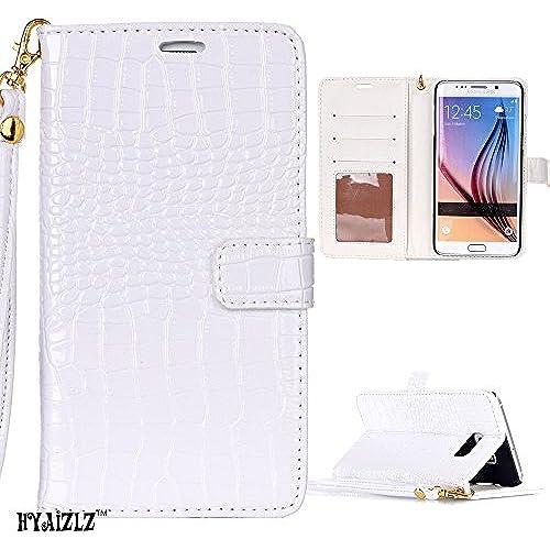 Galaxy S7 Edge Case,S7 Edge Wallet Case,HYAIZLZ(TM)Bright Leather PU Case for Samsung Galaxy S7 Edge,Color White Sales