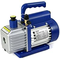 "ZENY 4CFM 1/3HP Electric Vacuum Pump Refrigerant R410a R134a HVAC Deep Vane Air Conditioner w/ 1/4"" Flare Inlet Port"