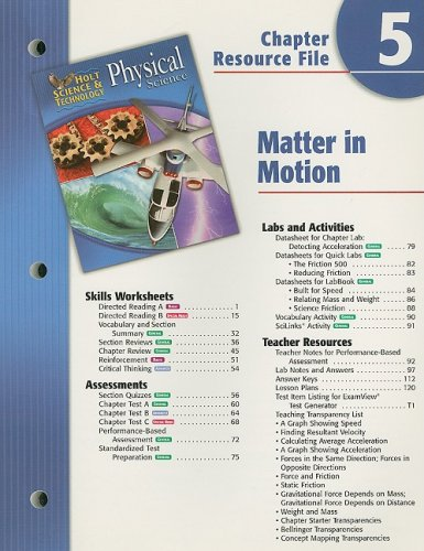 Holt Science & Technology: Physical Science Chapter 5 Resource ...