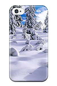 Awesome Design Awesome Snow Tree Hard Case Cover For Iphone 4/4s