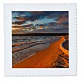 3dRose Danita Delimont - Beaches - Dramatic sunset on weathered driftwood at Sand Point, Michigan - 16x16 inch quilt square (qs_279093_6)