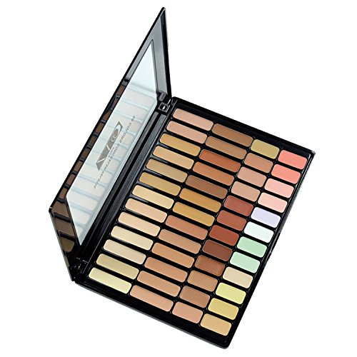 Pure Vie Pro 50 Colors Cream Concealer Camouflage Makeup Palette Contouring Kit for Salon and Daily Use