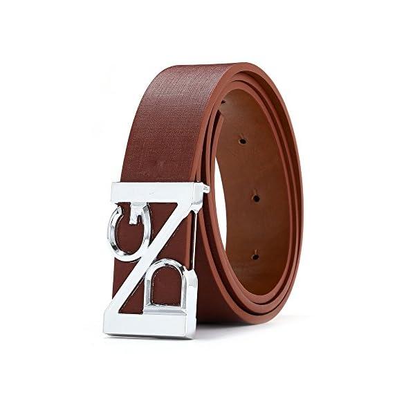 Firally Unisex Moda Cintura in Pelle con Fibbia Automatica Cinture Elegante per Jeans,Pantaloni Casual o Formali 2 spesavip