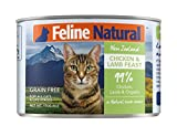 Canned Cat Food by Feline Natural – Perfect Grain Free, Healthy, Hypoallergenic Limited Ingredients – BPA-Free Wet Cat Food – Nutrition for All Cat Types – Chicken & Lamb – 6oz (24pack)
