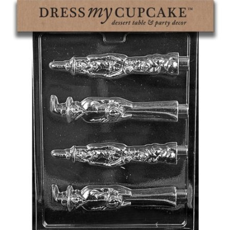 Dress My Cupcake DMCH161 Chocolate Candy Mold, Scary Witch Pretzel Lollipop, Halloween for $<!--$2.00-->