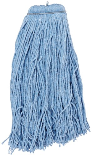Impact 26132 Layflat Screw-Type Regular Cut-End Blend Wet Mop Head, 32 oz, Blue (Case of 12) by Impact Products