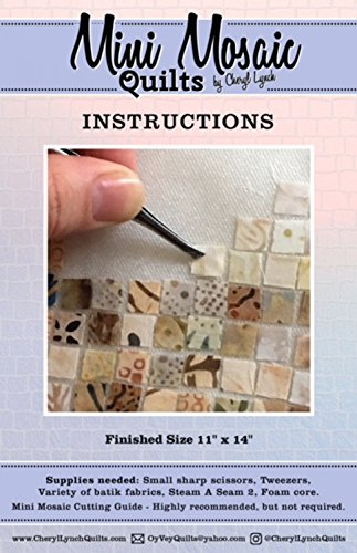Days Mosaic - Oy Vey Quilt Designs MM382 Mini Mosaic Quilts Cutting Guide and Instructions Rulers and Accessories, None
