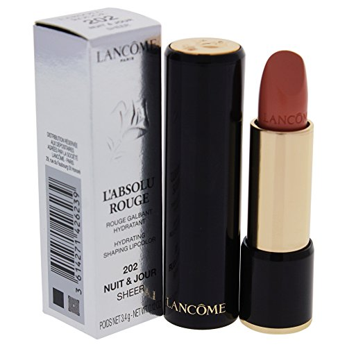 Lancome L'Absolu Rouge Hydrating Shaping Lip Color For Women, No.20 2 Nuit & Jour Sheer, 0.12 Ounce ()
