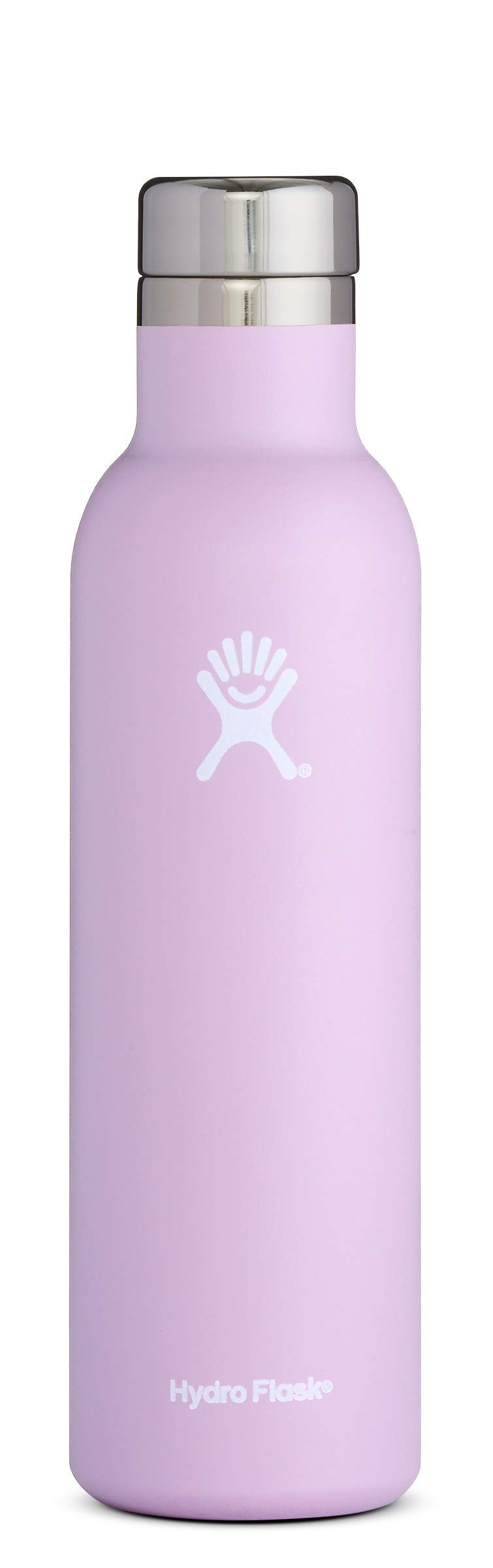 Hydro Flask 25 oz Double Wall Vacuum Insulated Stainless Steel Leak Proof Wine Bottle with BPA Free Cap, Lilac