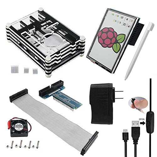 Smraza Ultimate Starter Kit for Raspberry Pi 3 2(8 Items)9 Layers Case+3.5