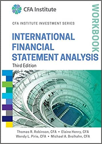 AmazonCom International Financial Statement Analysis Workbook