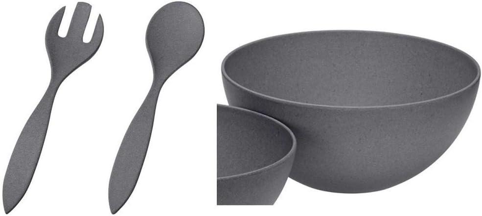 urban grey Magu NATUR DESIGN 2er SET Teller eckig 21+26cm Bambus schiefer