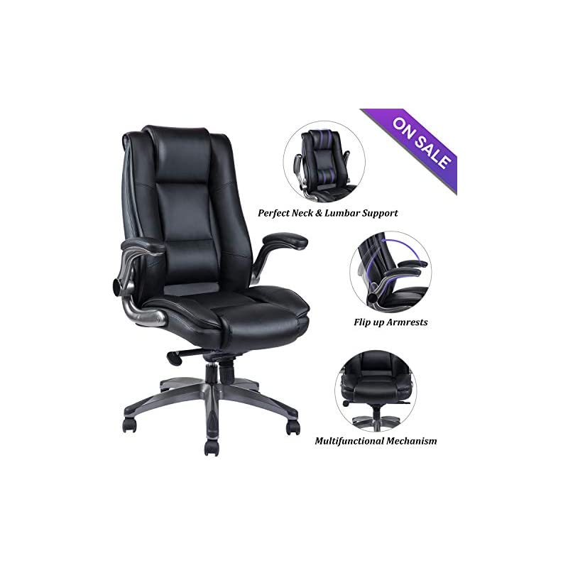 VANBOW Office Chair High Back Leather Ex