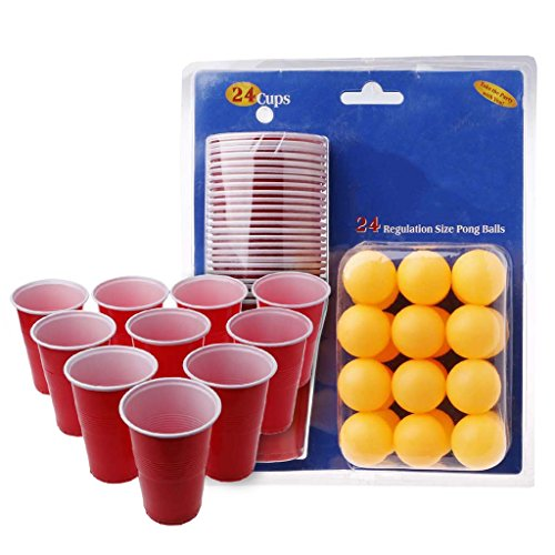 Lukalook Beer Pong Drinking Game Party Starter Set Cups Balls Xmas Pub BBQ Toy Indoor Fun by Lukalook