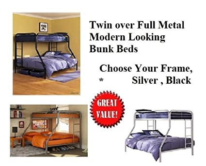 Amazon Com Bunk Beds Set Twin Top Full Size Bottom Dorm Bed Teens