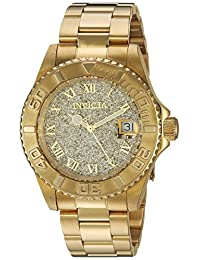Invicta Women's 'Angel' Swiss Quartz Stainless Steel Casual Watch, Gold-Toned (Model: 22707)