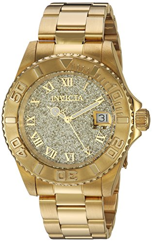Invicta Women's Angel Swiss-Quartz Watch with Stainless-Steel Strap, Gold, 20 (Model: 22707)