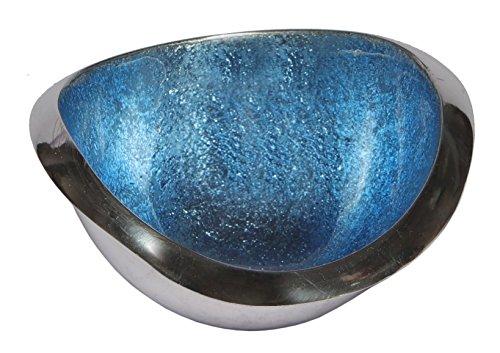 Melange Home Decor Classic Collection, 4.25-inch Wave Bowl, Color - Sky Blue ()