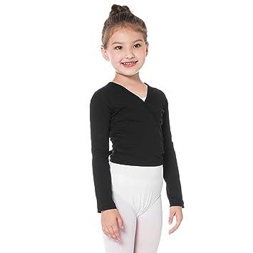 Bezioner Chaqueta para Ballet Danza Yoga Algodón Cardigan Manga Larga para Niña Mujer
