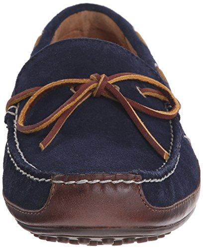 Polo Ralph Lauren Mænds Wyndings Læder Slip-on Dagdriver Tan / Newport Flåde U0GudwU