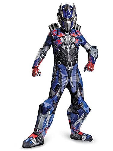Disguise Transformers Age of Extinction Movie Optimus Prime Prestige Boys Costume, -