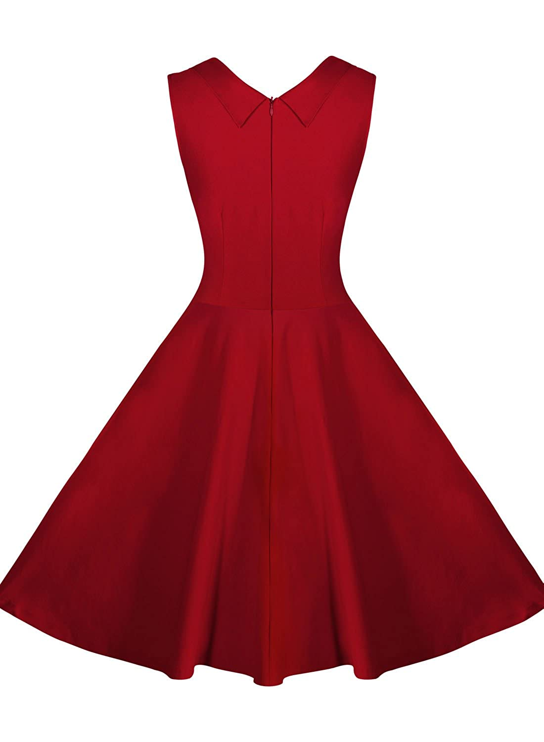 Miusol Womens Casual Cut Out V Neck Vintage 1950S Retro Party Dress 3237 Amazonca Clothing Accessories