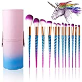 Makeup Brushes Set Colorful Unicorn 12Pcs Foundation Eyebrow Eyeliner Eye-shadow Brush Cosmetic Conceler