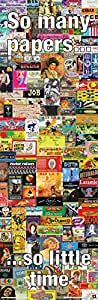 So Many Papers (Vintage Weed Marijuana Rolling Papers) Novelty Drug Smoking Humor Poster Print 12x36