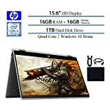 HP Pavilion 2019 Premium X360 2-in-1 Convertible 15.6' HD IPS Micro-Edge Touchscreen Laptop, Intel 4-Core i5-8250U(i7-7500U), 16GB RAM, 1TB HDD, 16GB Intel Optane, Win 10, Gold w/ HESVAP Accessories