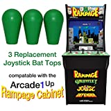 RetroArcade.us ra-js-topball-1up-kit-1 arcade1up Rampage Street Fighter 2 Galaga Pacman 3 Joystick bat top Handles