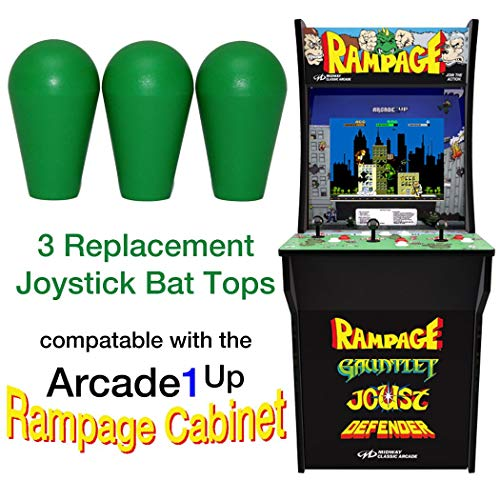 RetroArcade.us ra-js-topball-1up-kit-1 arcade1up Rampage Street Fighter 2 Galaga Pacman 3 Joystick bat top Handles (Best Street Fighter 2)
