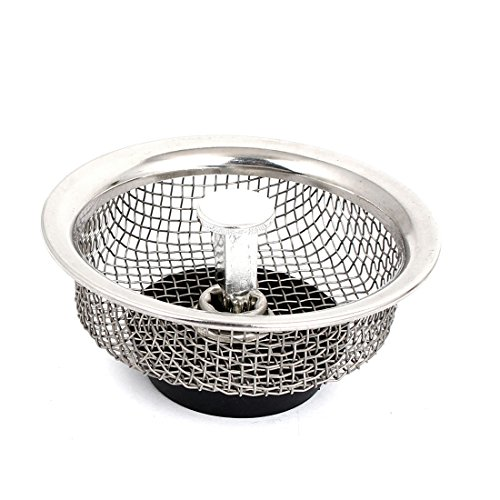 Amazon Com Uxcell 85mm Dia Kitchen Sink Basin Mesh Stopper Filter Strainer Silver Tone Kitchen Dining