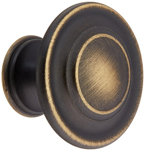 Amerock BP1586-RB Inspirations Collection Roman Bronze Round 3-Ring Cabinet Hardware Knob, 1-3/8 Inch Diameter - 25 Pack