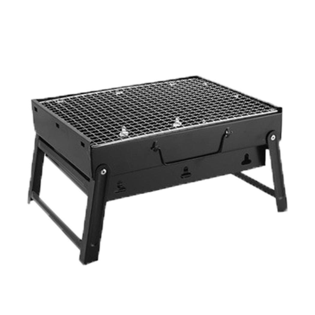 Queind Portable Barbecue Grill Foldable Charcoal Barbecue Oven Outdoor BBQ Picnics Grill Stands & Shelves
