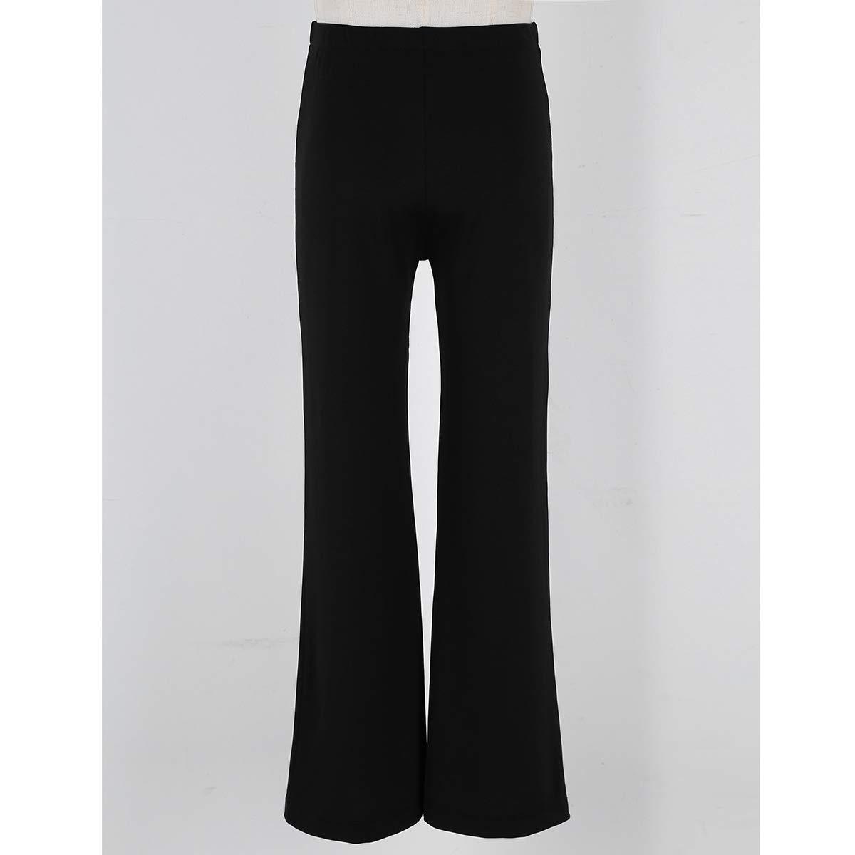 zdhoor Kids Girls Boys Jazz Dance Pants Loose Fit Elastic Waist Stretchy Dancewear Classic Gymnastic Costumes
