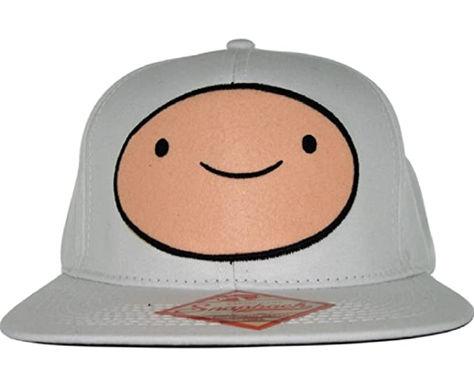 e800d134200 Image Unavailable. Image not available for. Color  Adventure Time Finn Logo  Adjustable White Snapback Cap Hat