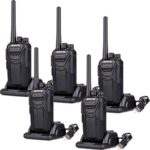 Retevis RT27 Walkie Talkies FRS Radio 22CH Scrambler VOX FCC Certification License-free 2 Way Radio (Black,5 pack) by Retevis
