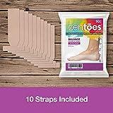 ZenToes Turf Toe T-Straps - 10 Pack Moleskin