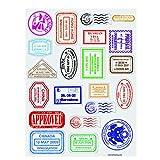 Passport Stamp Sticker Sheets (480 Stickers)