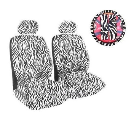 zebra print steering wheel cover - 6