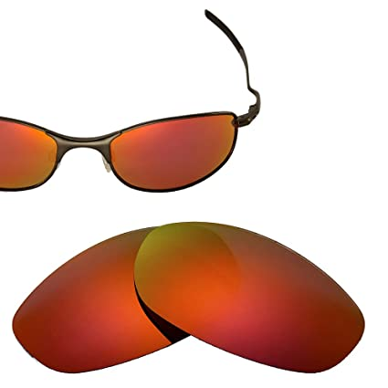 2f7e5904dc Cofery Replacement Lenses for Oakley Tightrope Sunglasses - Multiple  Options Available (Fire Red - Mirror